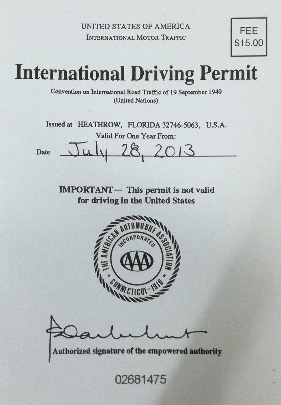 how to get a international drivers license in florida